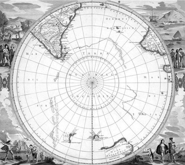 Неведомая Южная земля (Terra Australis Incognita).